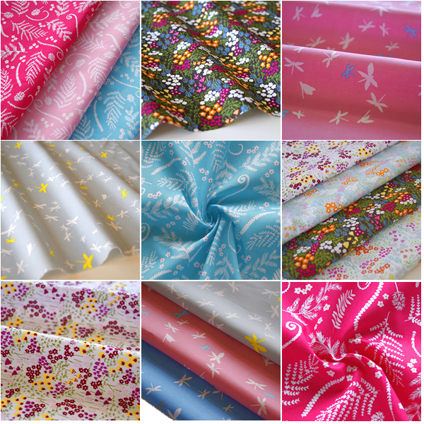 Floral Fabric 100 Cotton Vintage Daisy Leaf Material