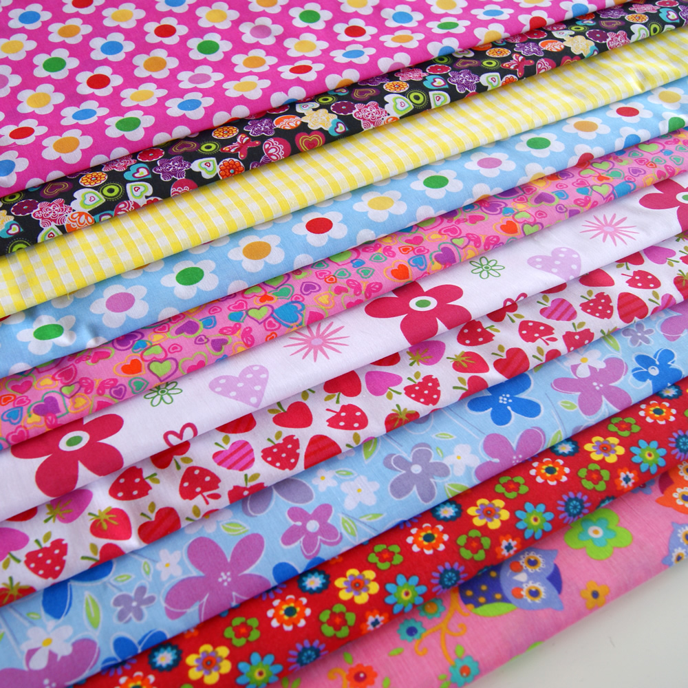 Childrens fabric bundle 10 x large squares 10 for Childrens fabric bundles