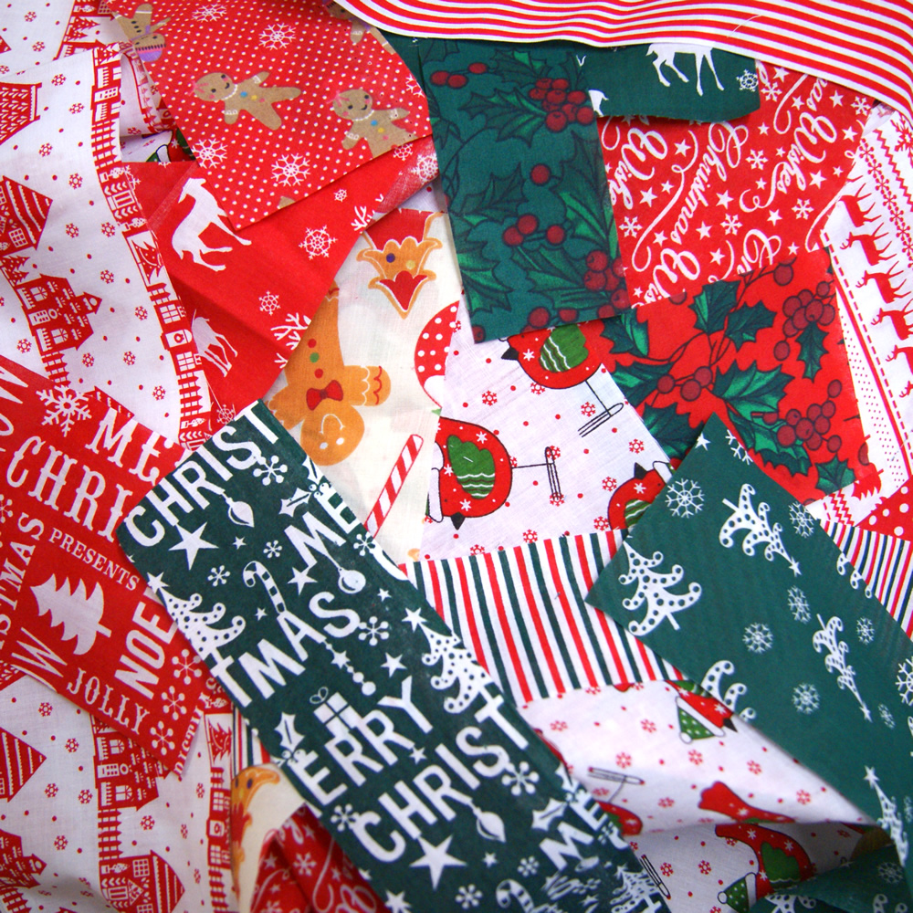 Christmas fabric remnants scraps value pack bundle offcut for Fabric remnants