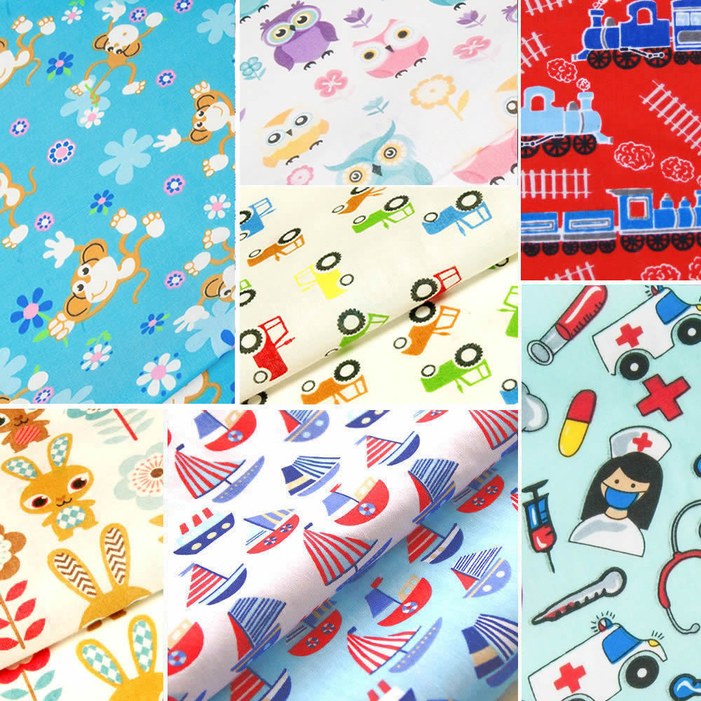 Childrens fabric fat quarters kids baby polycotton for Childrens material